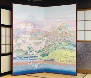 2017 地上図屏風 1800mm × 1800mm (淨專寺 蔵)