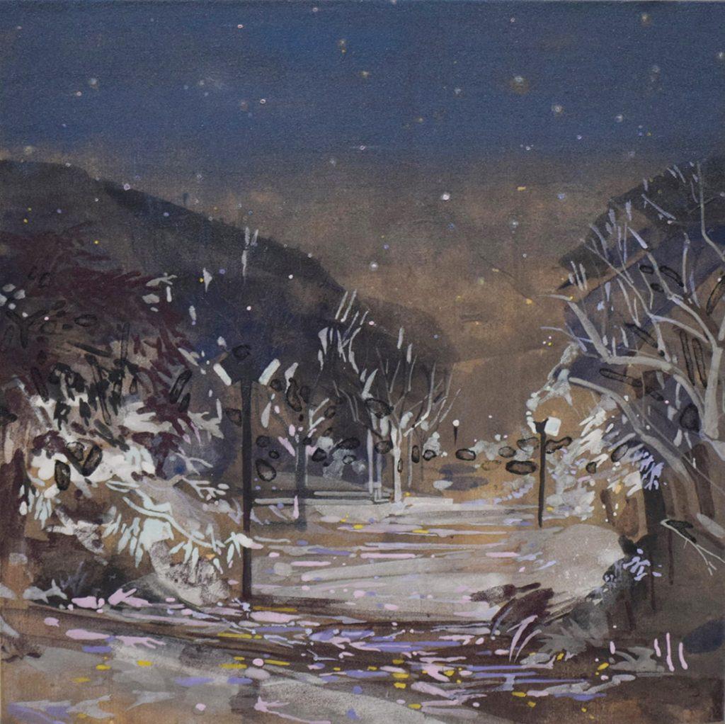 2017 冬の景観- 黒- 273mm × 273mm(個人蔵)
