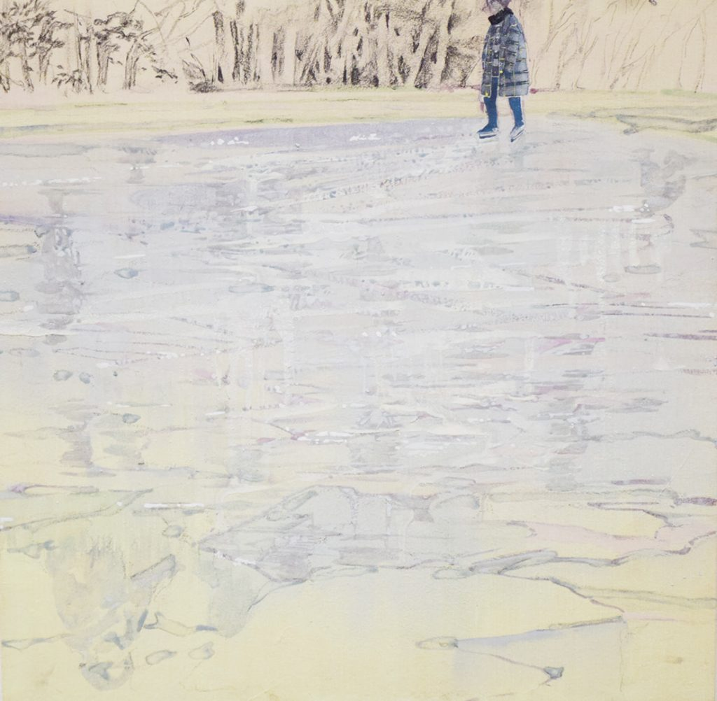 2017 冬の景観- 白- 273mm × 273mm(個人蔵)
